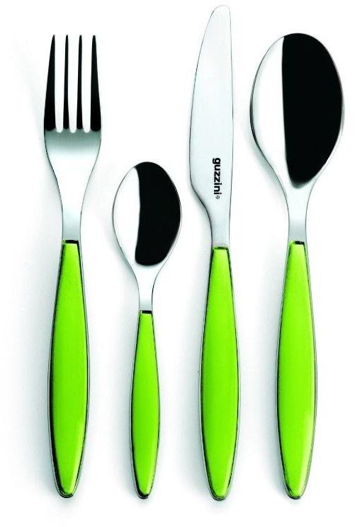 Guzzini - komplet sztućców - feeling - zielony - zielony