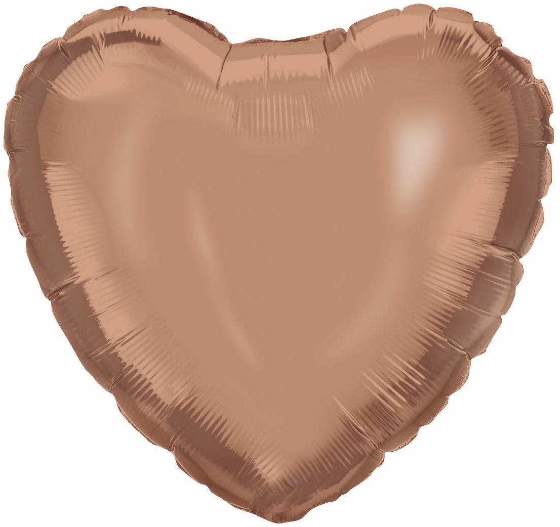 Procos 92455  balon foliowy serce, rozmiar 46 cm, złoto, hel, balon, urodziny, dekoracja, prezent