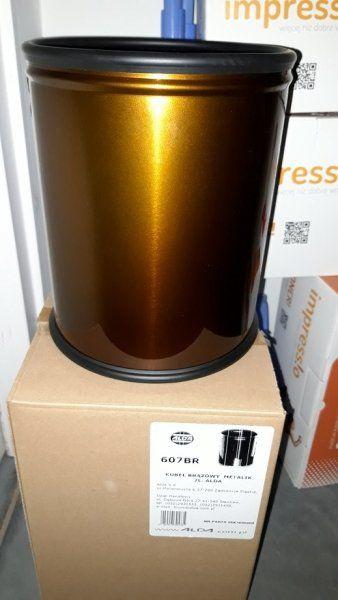 Kosz na śmieci ROOM BASKET 7l brązowy metalik