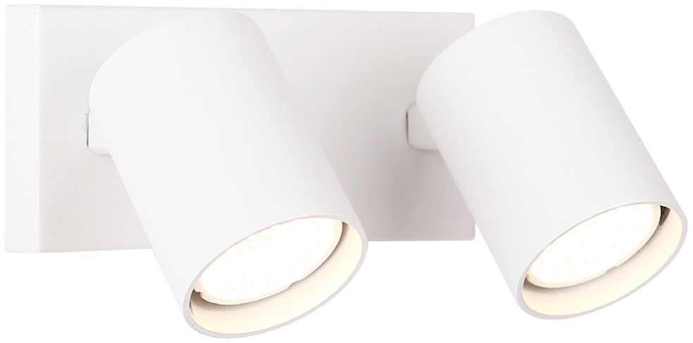 Maxlight Top 2 W0220 kinkiet lampa ścienna podwójna metalowa biała 2x50W GU10 6cm
