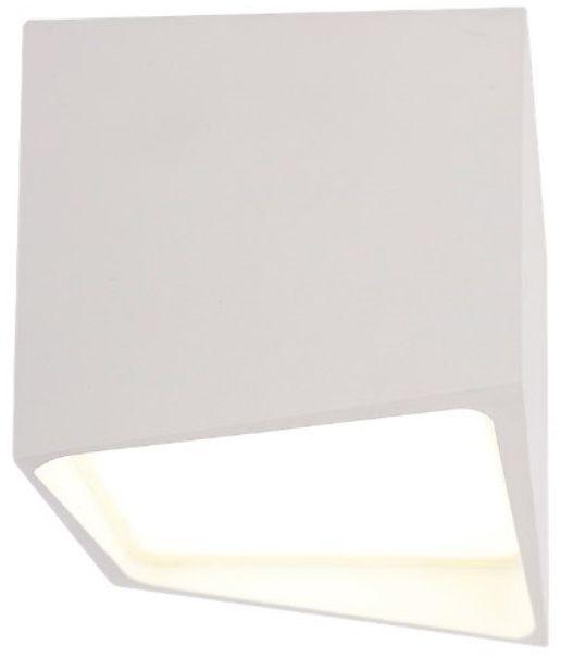Maxlight Etna C0143 plafon lampa sufitowa biała prosta metalowa geometryczna 1x10W LED 3000K 10x10cm IP44