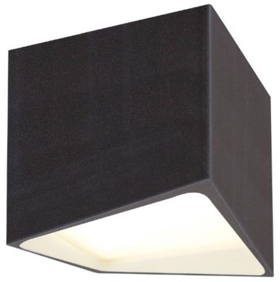 Maxlight Etna C0144 plafon lampa sufitowa czarna prosta metalowa geometryczna 1x10W LED 3000K 10x10cm IP44
