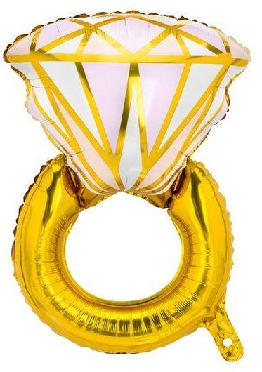 Balon foliowy na Wieczór Panieński Pierścionek złoty 53x40cm 1 sztuka FB76