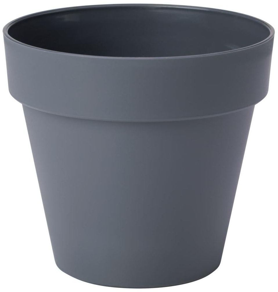 Doniczka plastikowa 18 cm antracytowa IBIZA