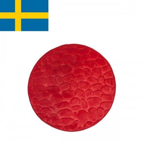 Dywanik łazienkowy Czerwony, fi 60cm