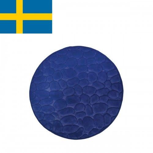 Dywanik łazienkowy Niebieski, fi 60cm