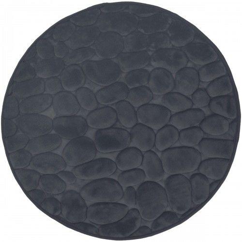 Dywanik łazienkowy Ciemno szary, fi 60cm