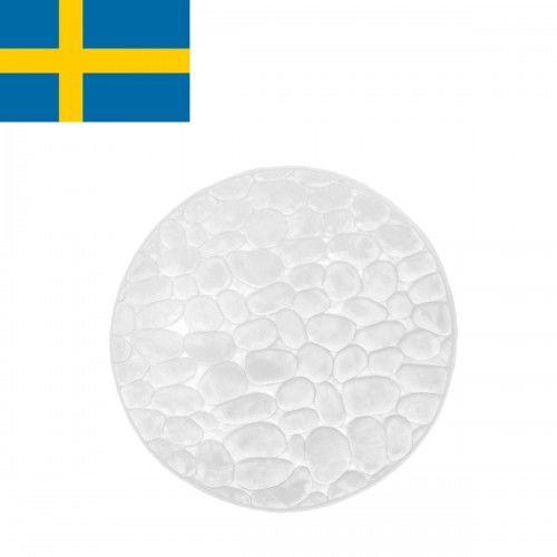 Dywanik łazienkowy Biały, fi 60cm