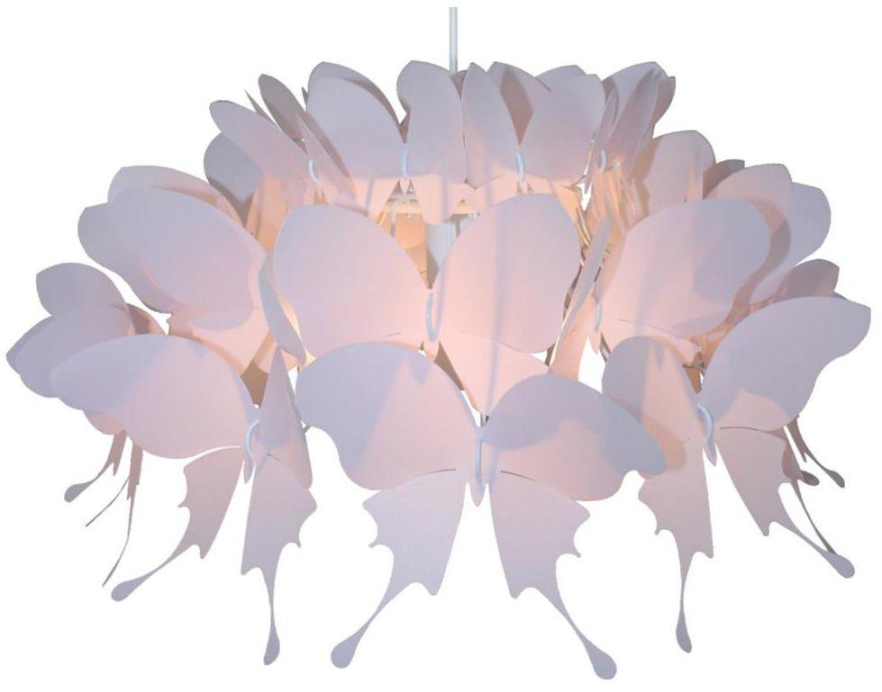 Lampa wisząca FARFALLA różowa E27 LIGHT PRESTIGE