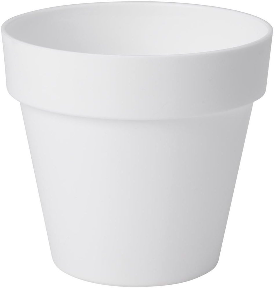 Doniczka plastikowa 12 cm biała IBIZA