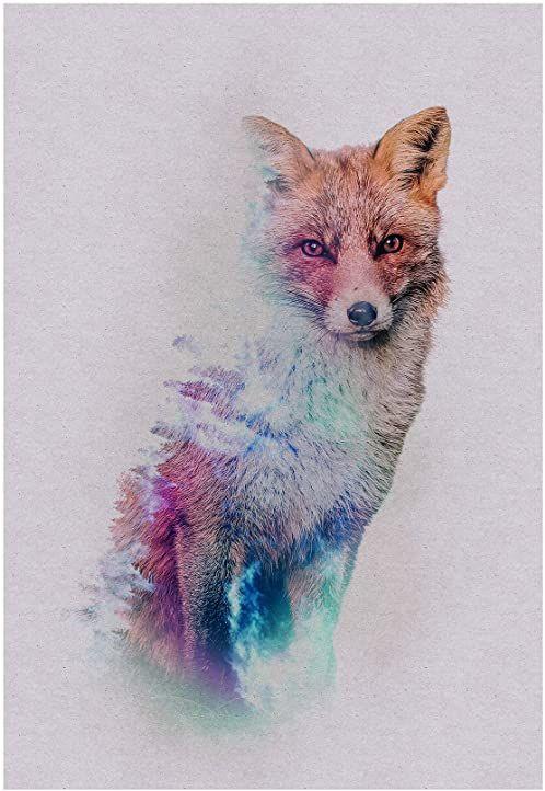 Komar obraz ścienny Animals Forest Fox plakat, obraz, salon, sypialnia, dekoracja, druk artystyczny bez ramy P084B-50x70 rozmiar: 50 x 70 cm (szerokość x wysokość)