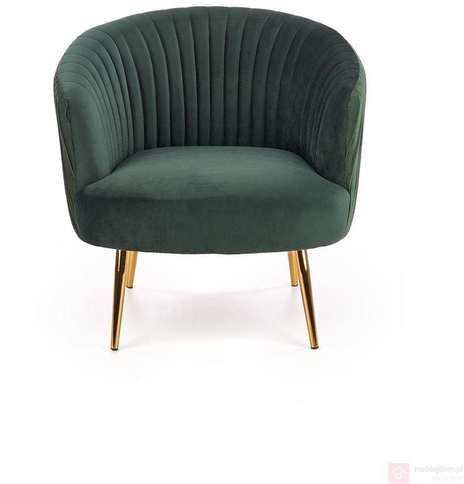KUPON 10% NA STRONIE  Fotel wypoczynkowy CROWN Halmar Zielony