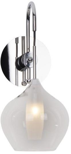 Maxlight City W0248 kinkiet lampa ścienna metal klosz szkło bezbarwne 1x25W G9 16cm
