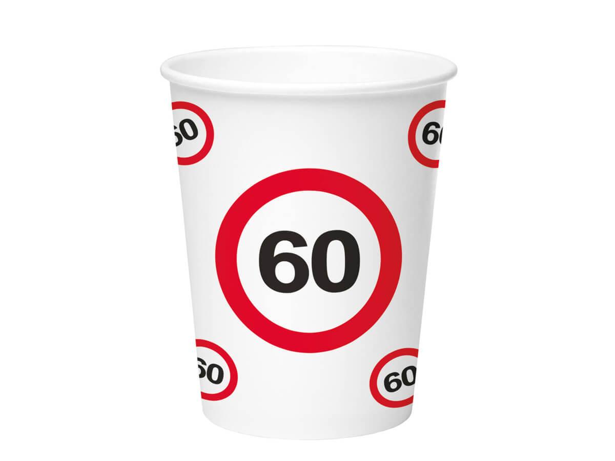 Kubeczki Znak zakazu 60tka - 350 ml - 8 szt.