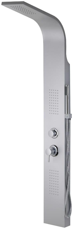 Corsan ALTO panel prysznicowy z mieszaczem gwiezdna szarość A-017M ALTO SREBRNY