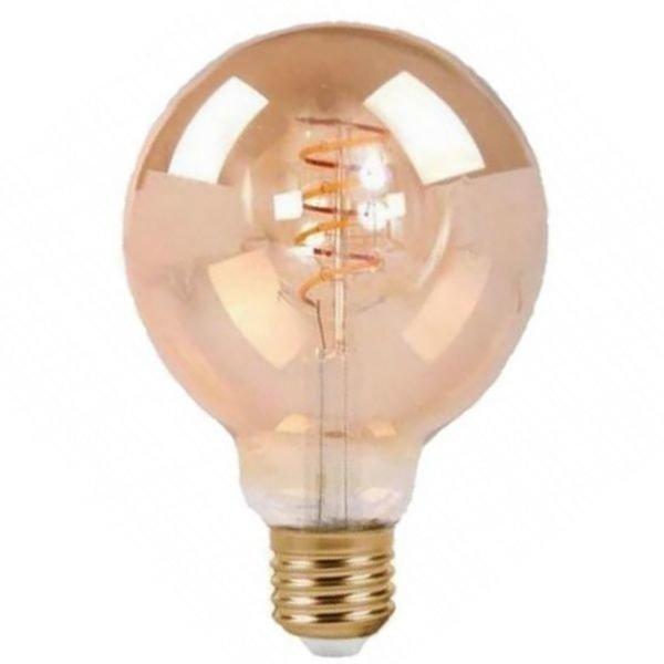 Żarówka FILAMENT LED E27 6W ciepła 2700K kula G125 spirala