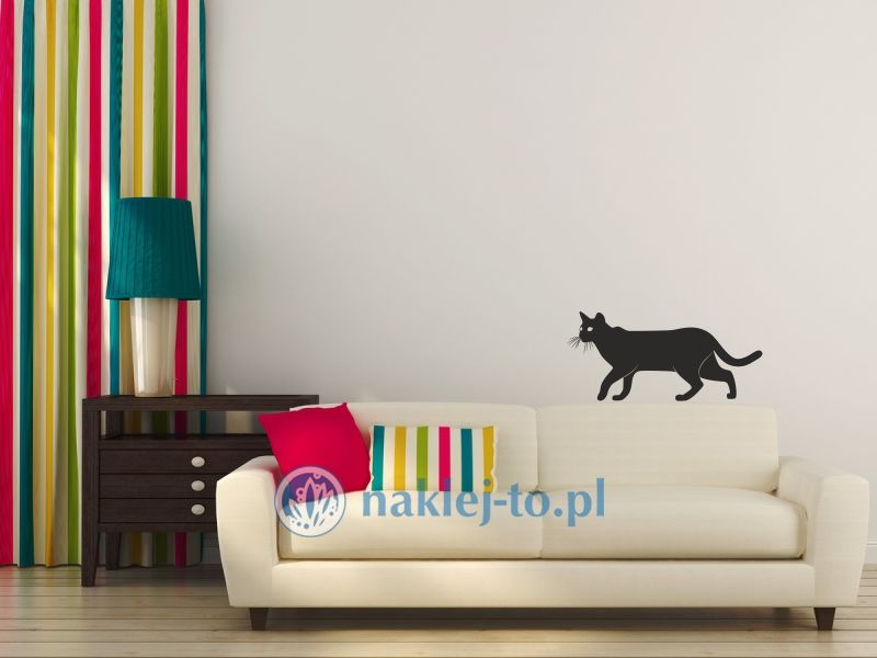 Kot 1 naklejka na ścianę