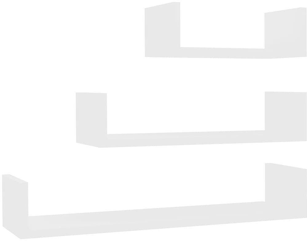 Zestaw białych półek ściennych - Baffic 3X