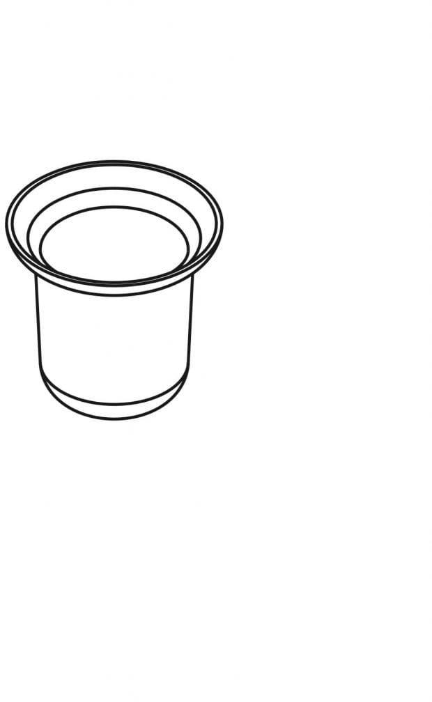 Stella pojemnik szklany do szczotki wc 80.005, zamiennik do 07.430, stojaka 19.201, 19.204 wysyłka 24h