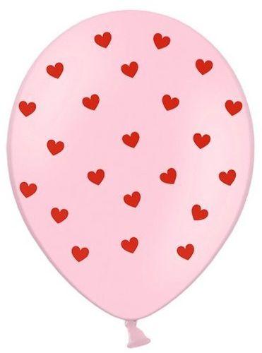 Balony Serca Pastel Baby Pink 6 szt SB14P-278-081J-6