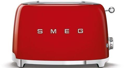 Toster na 2 kromki SMEG czerwony