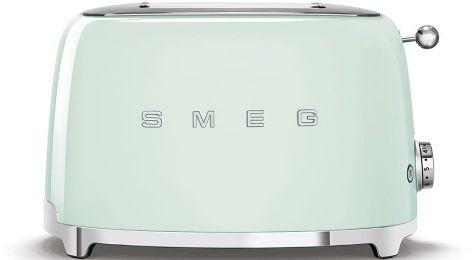 Toster na 2 kromki SMEG miętowy