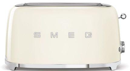 Toster na 4 kromki SMEG kremowy podłużny