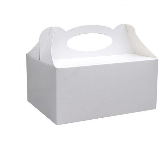 Białe uniwersalne pudełka na ciasto 10 sztuk PUDC-10x