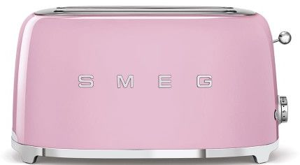 Toster na 4 kromki SMEG różowy podłużny