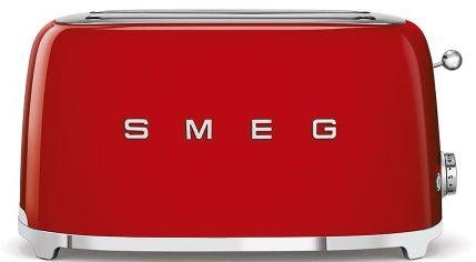 Toster na 4 kromki SMEG czerwony podłużny