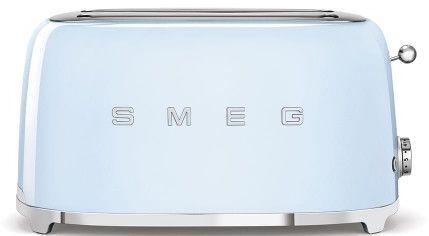 Toster na 4 kromki SMEG błękitny podłużny