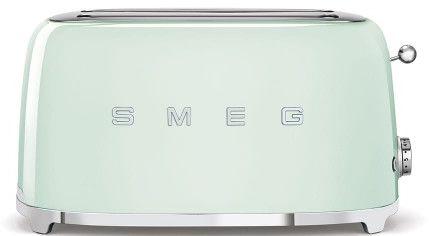 Toster na 4 kromki SMEG miętowy podłużny