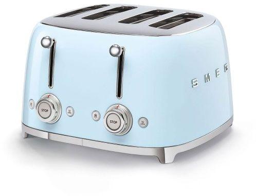 Toster na 4 kromki SMEG błękitny szeroki