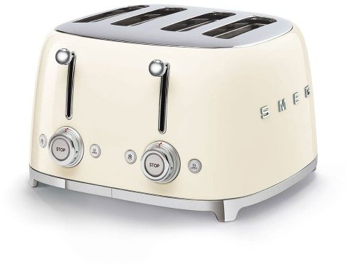 Toster na 4 kromki SMEG kremowy szeroki