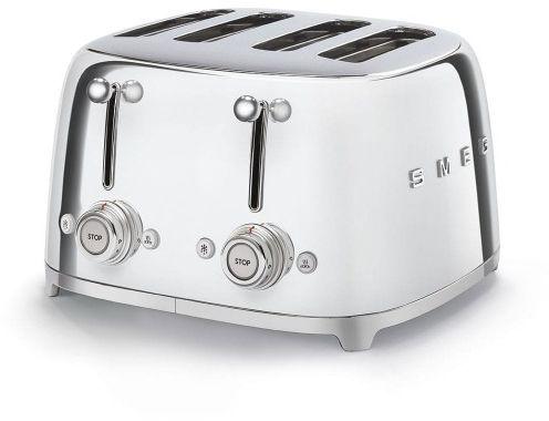 Toster na 4 kromki SMEG chrom szeroki