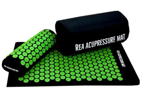 Rea Tape mata + poduszka z kolcami do akupresury zielona