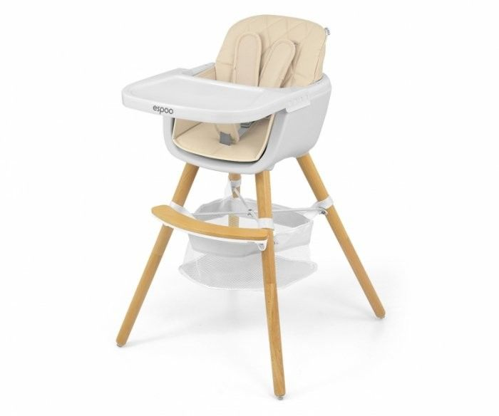 Krzesełko do karmienia 2w1 Espoo Beige