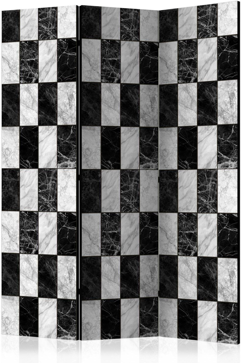 Parawan 3-częściowy - szachownica [room dividers]