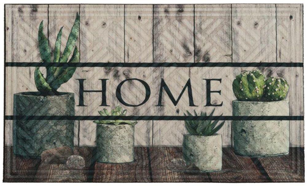 Wycieraczka wewnętrzna Succulent 75 x 45 cm gumowa