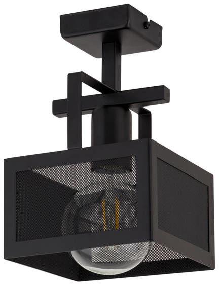 Lampa sufitowa siatka ALBERT 1 PLAFON czarny 32178