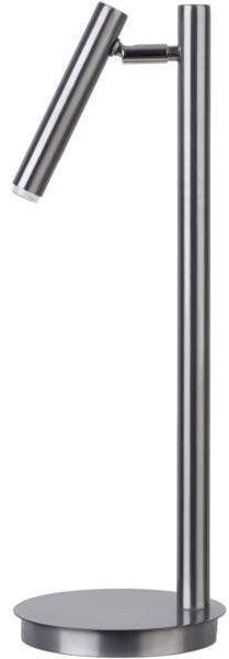 Lampa biurkowa stołowa nocna SOPEL LAMPKA srebrny 50194