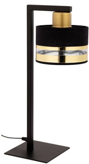 Nowoczesna lampka biurkowa stołowa nocna PRO LAMPKA czarny/złoty 50235