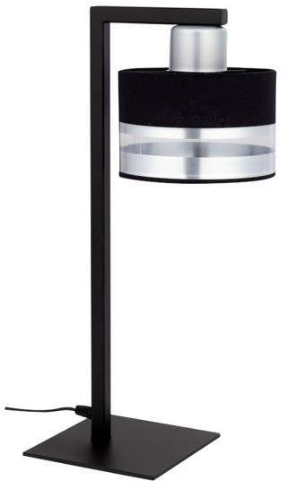 Nowoczesna lampka biurkowa stołowa nocna PRO LAMPKA czarny/srebrny 50236