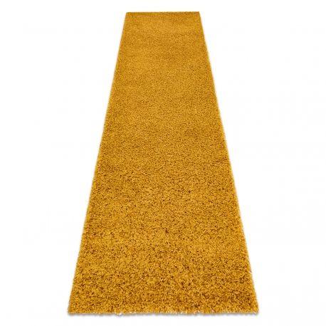 Dywan, Chodnik SOFFI shaggy 5cm złoty - do kuchni, przedpokoju, na korytarz 60x100 cm