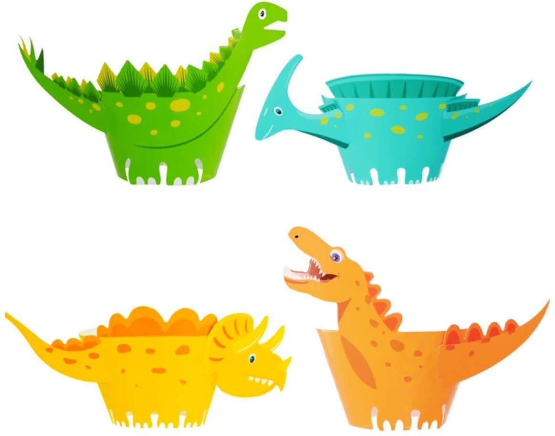 Papilotki na babeczki Dinozaury - 8 szt.
