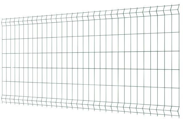 Panel ogrodzeniowy 3D 123 x 250 cm oczko 7,5 x 20 cm drut 3,2 mm ocynk zielony