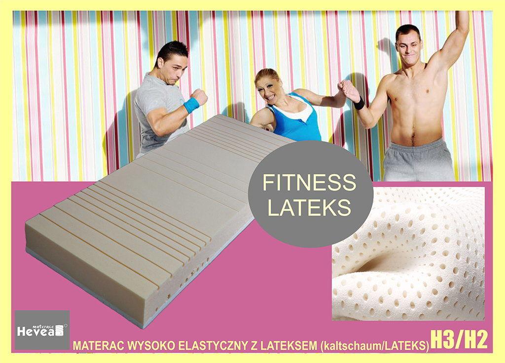 Materac wysokoelastyczny Hevea Fitness Bio 200x160+GRATIS PODUSZKA VISCO