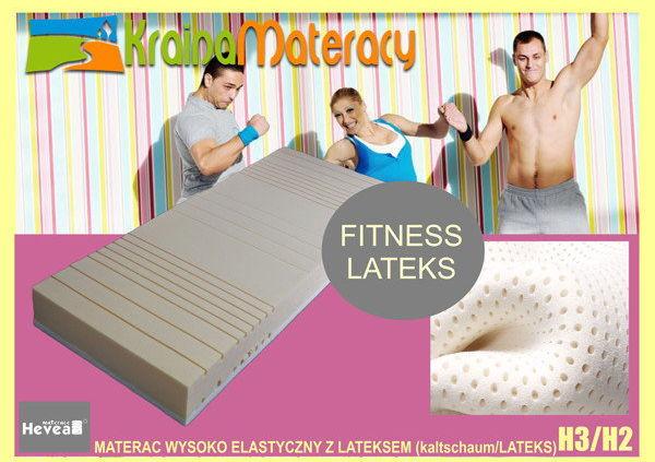 Materac wysokoelastyczny Hevea Fitness Bio 200x80+GRATIS PODUSZKA VISCO