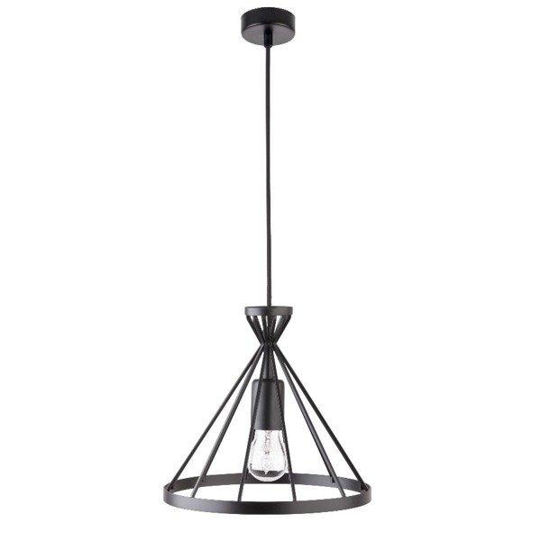 Lampa wisząca NOWUM czarna druciany stożek 26cm