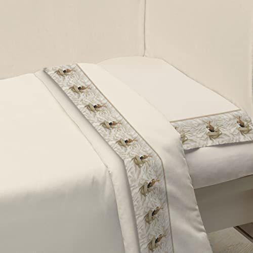Ipersan Zestaw łóżeczka dziecięcego Funny Bear beżowy 120 x 180 cm + 40 x 60 cm
